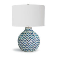 Chevron Bone Table Lamp
